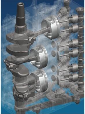 Схема механически эффективного 12-клапанного двигателя DOHC