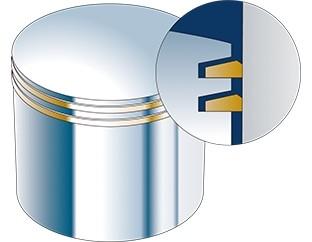 Схема поршневых колец Keystone