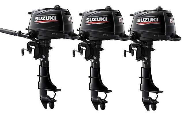 Подвесные лодочные моторы Сузуки (Suzuki) от 2.5 л.с. (DF2.5) до 350 л.с. (DF350AT). Румпельные и дистанционные, 2-х и 4-х тактные, карбюраторные и инжекторные.