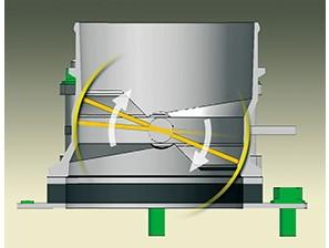 Схема корпуса дроссельной заслонки сферического типа