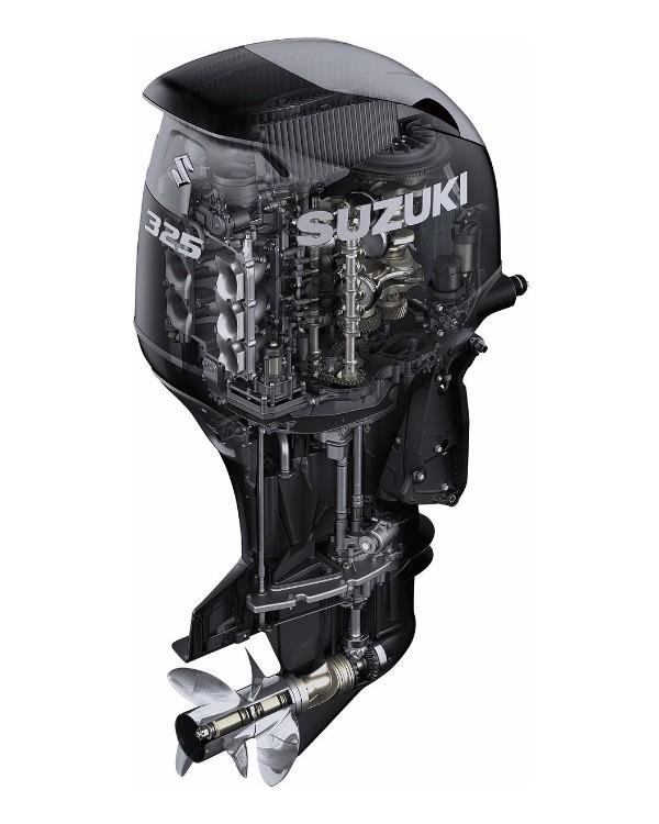 Мотор лодочный Suzuki DF325ATX / Сузуки ДФ 325 л.с. / 635 мм – с электронным управлением – мульти вращение – V6