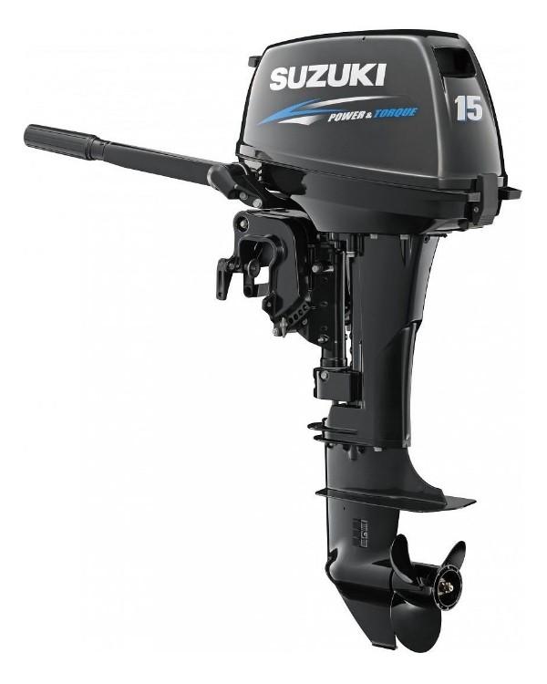 Мотор лодочный Suzuki DT15AS / Сузуки ДT 15 л.с. / 381 мм