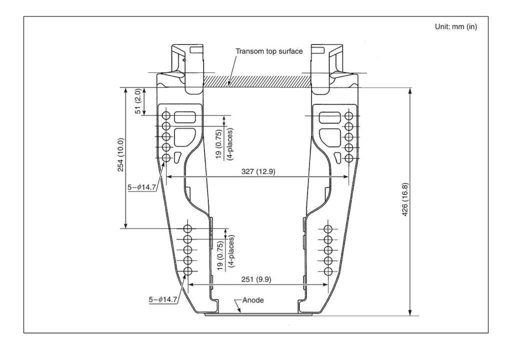 Схема установки, крепления и откидки лодочных моторов Сузуки DF250AP / DF300AP
